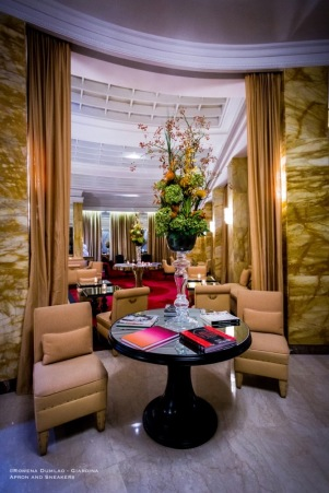 Palm Court of Hotel Hassler in Rome, Italy