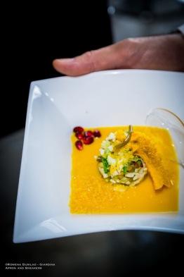 Vincenzo Montaruli's dish of Ristorante Mezza Pagnotta in Ruvo di Puglia