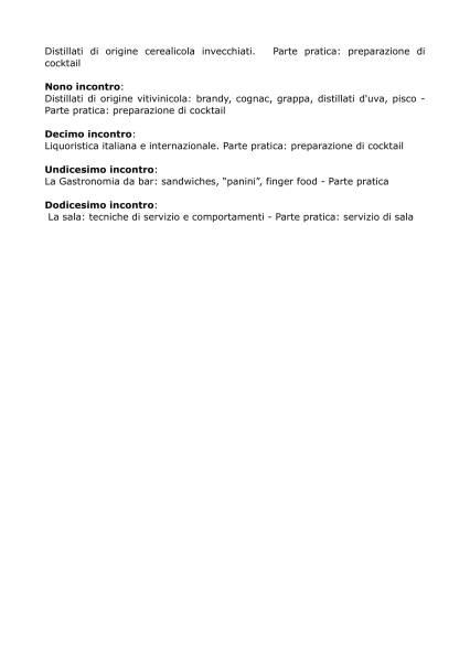 Programma corso Accademia Chorus II edizione-2