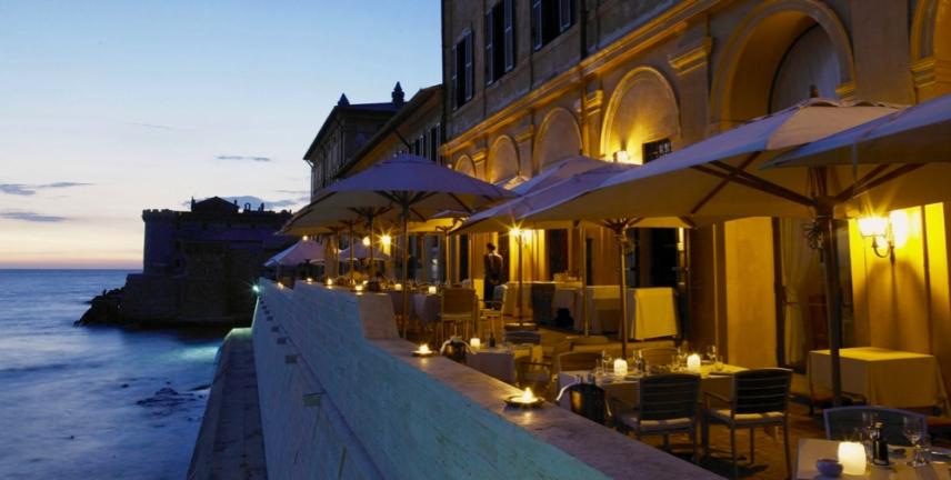 gourmet-cuisine-la-posta-vecchia-restaurant-rome-The-Cesar-Restaurant,-Terrace-Sea-View-1