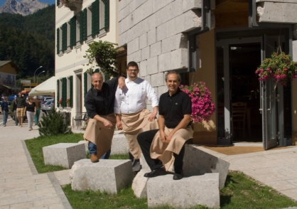 Brothers Alessandro and Fabrizio Votta and Chef Nicola Campus